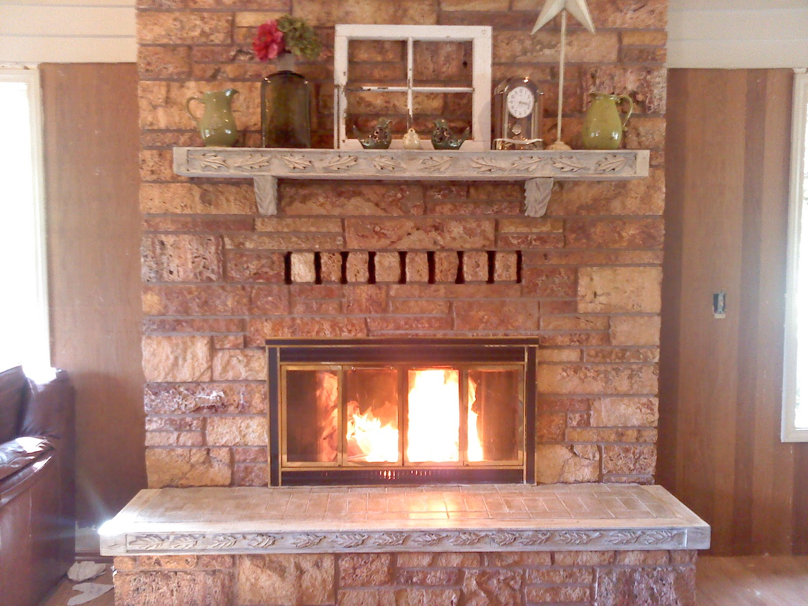 this old house fireplace mantel and surround re do. Black Bedroom Furniture Sets. Home Design Ideas