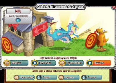 imagen del dragon poseidon y sus ataques