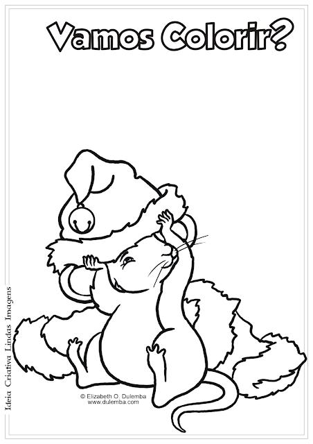 Natal desenho para colorir
