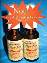 Spray de gât cu propolis și miere fără alcool