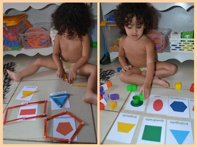 Atividade Formas Geométricas com Material Concreto