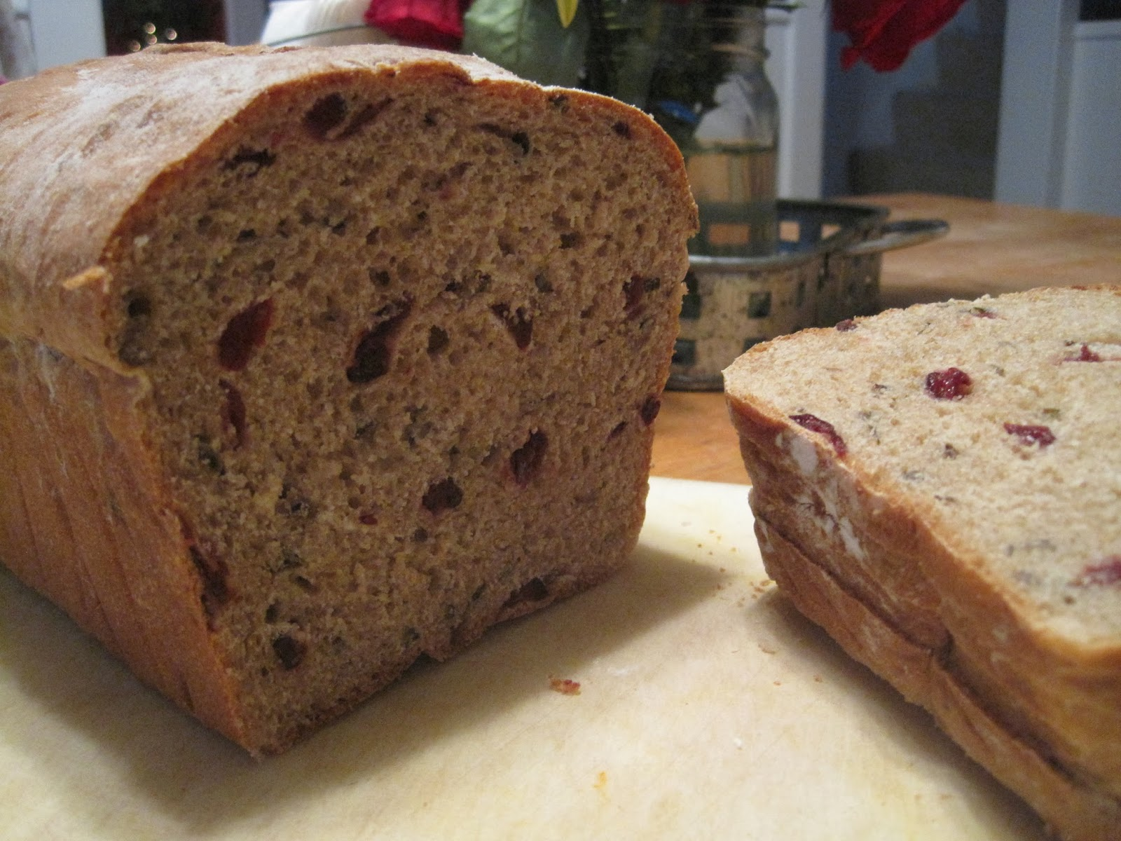 breakingeleven  cranberry wild rice bread