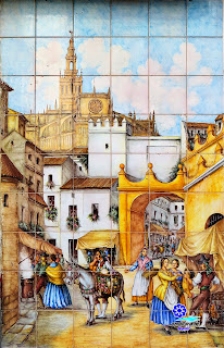 Azulejo del Postigo del Aceite - Ceramiberica - Sevilla