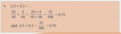 cara menghitung perkalian pecahan desimal