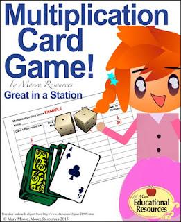 https://www.teacherspayteachers.com/Product/Multiplication-Fun-Card-Game-Great-to-set-up-as-2-3-Math-Centers-1947635