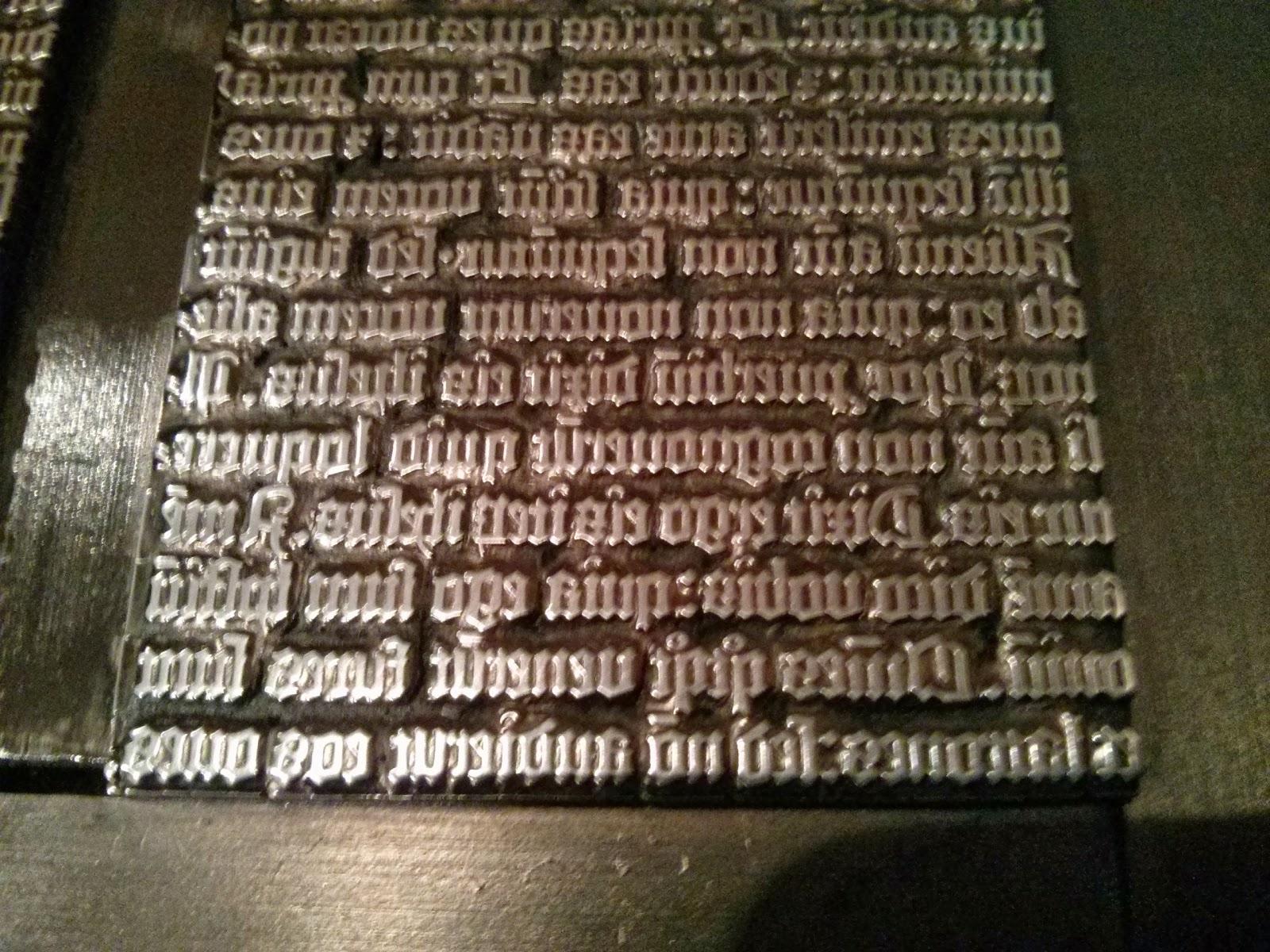 gutenberg printing press letters