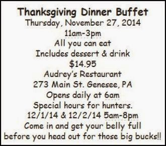 11-27 Thanksgiving Dinner Buffet