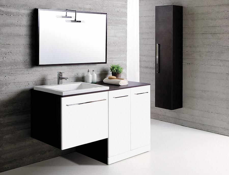 Arredo e design arredare la lavanderia nel bagno di oggi - Mobile bagno lavatrice lavabo ...