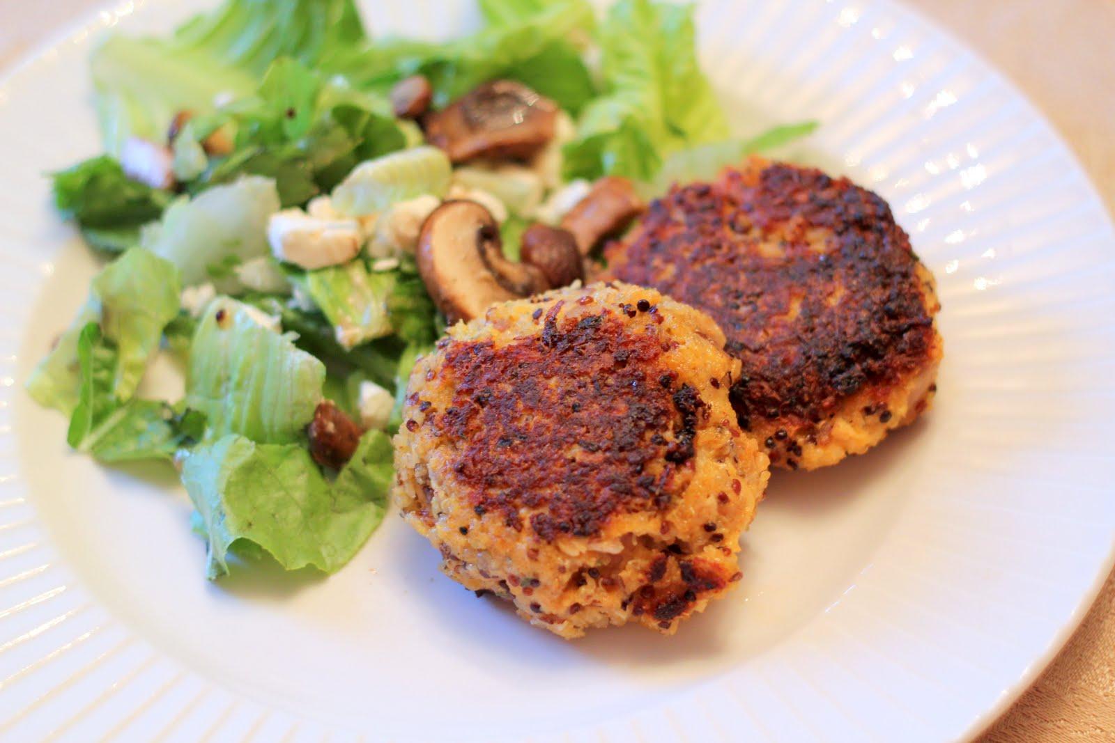 Food to Run For: Buffalo Chicken Quinoa Cakes (& Mushroom ...