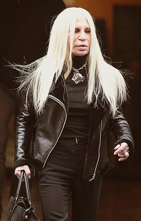 Donatella, Versace, celebrities without makeup, whorrified,