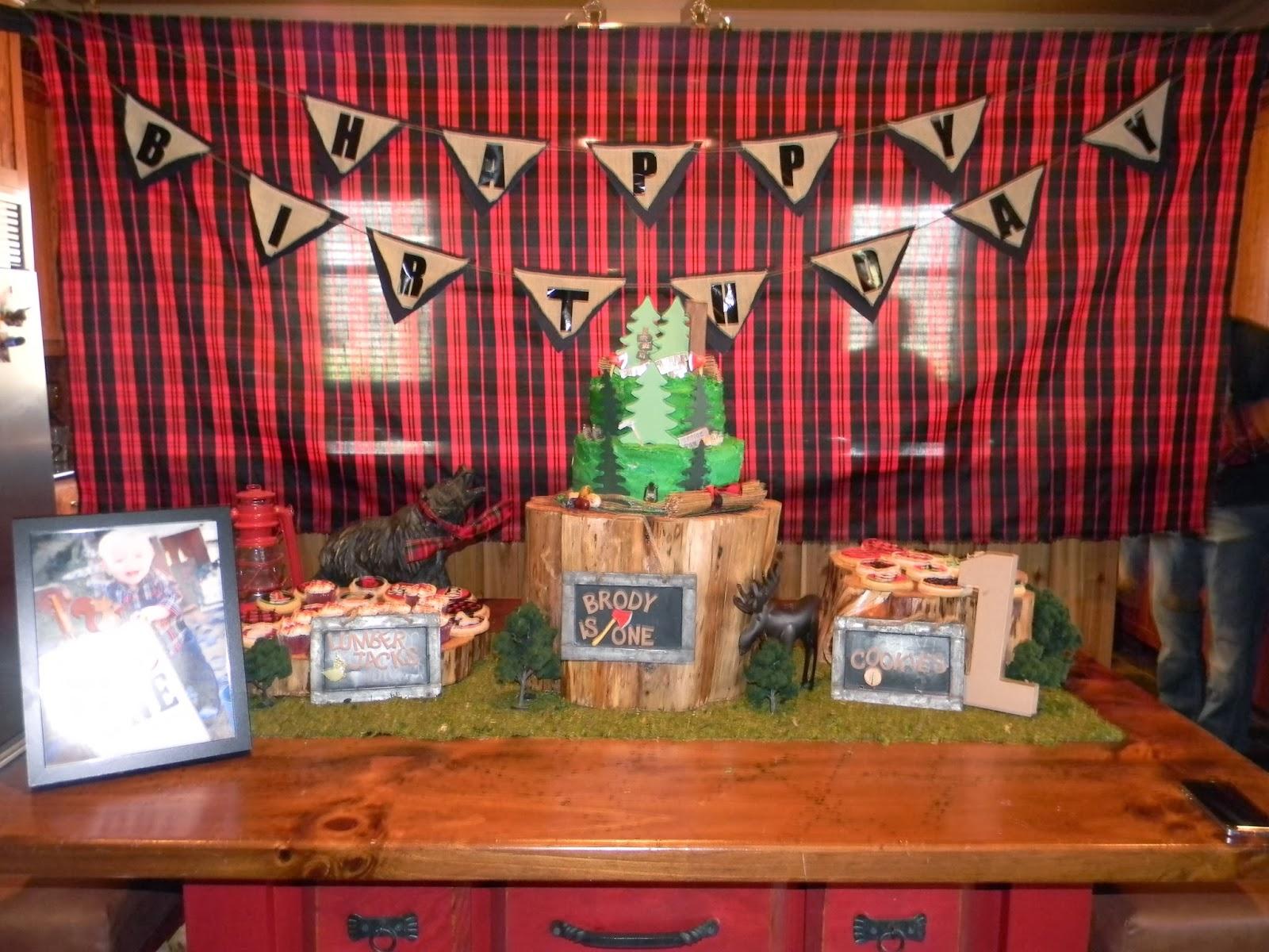 Flannel Lumberjack Backdrop