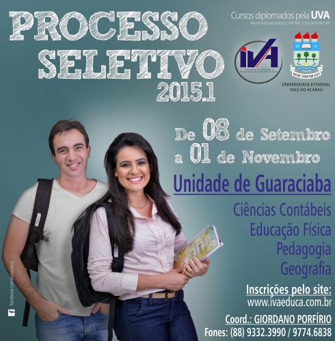 Processo Seletivo                       IVA / UVA 2015.1