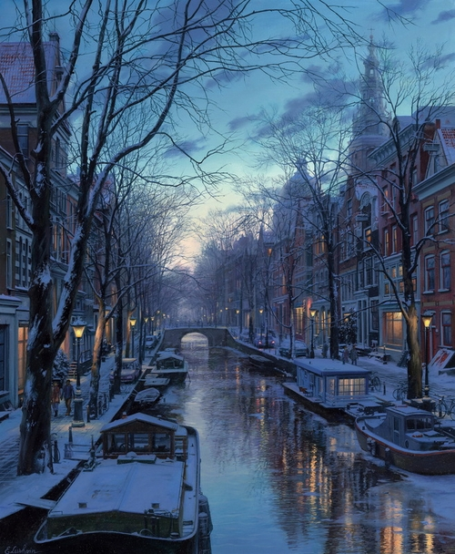 09-Evening-Shadows-Evgeny-Lushpin-Scenes-of-Realistic-Night-Time-Paintings-www-designstack-co