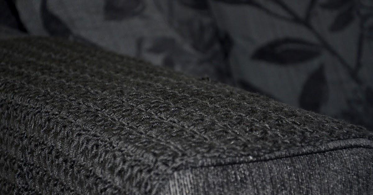The Curious Krafter Crochet Black Armchair Arm Covers
