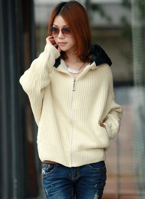 Korean style batwing sleeve hoodie fashion