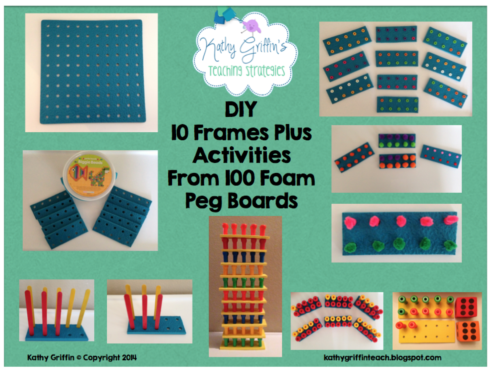 Kathy Griffin\'s Teaching Strategies: DIY Foam 10 Frames