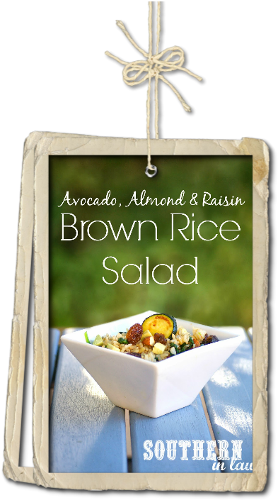 Avocado Almond and Brown Rice Salad