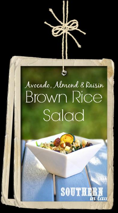 Avocado Almond and Brown Rice Salad