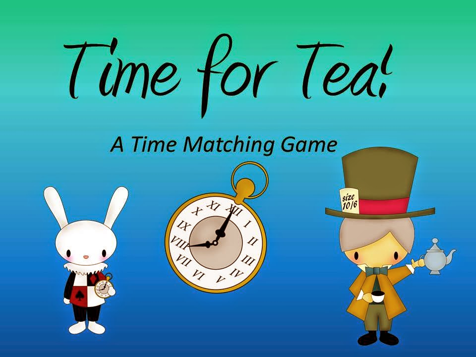 http://www.teacherspayteachers.com/Product/Time-For-Tea-A-Time-Matching-Game-1194976