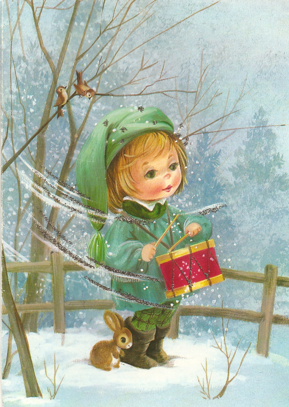 PowerOfBabel Nannys Christmas Cards The Little Drummer Boy