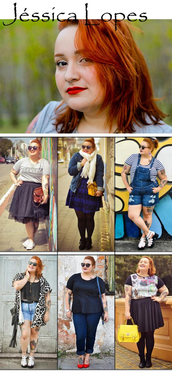 Blogueira Plus Size Femme Fatale by Jeh Looks Modelo Curvy Estilo Fashion Blog Moda Beleza