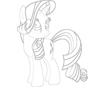 #10 Rarity Coloring Page