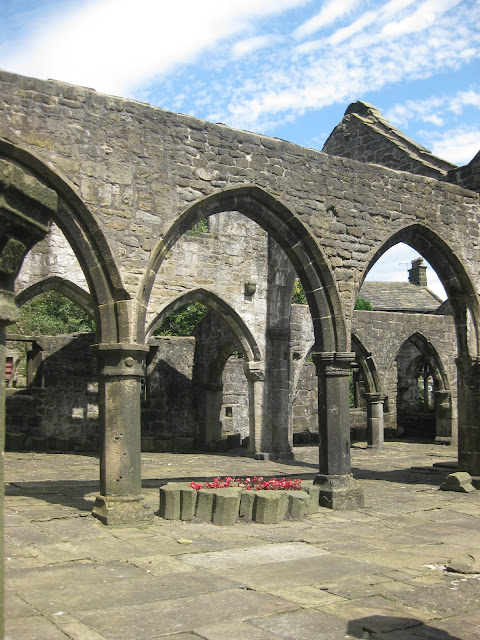Medieval church in Hebden Bridge with two naves