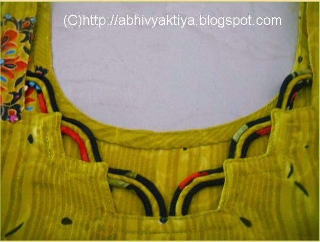 neck design made with cord or dori
