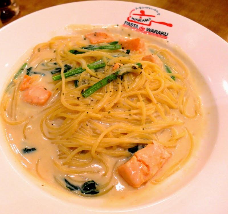 Pasta De Waraku Restaurant Clarke Quay The Central Outlet Japanese Food Salmon Asparagus Cream Pasta Review lunarrive blog Singapore
