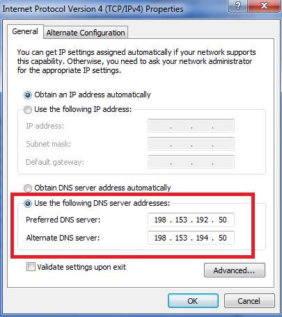 Thiết lập địa chỉ DNS cho máy tính