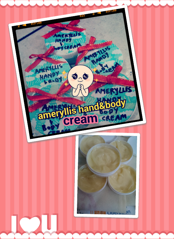 ameryllis hand and body whipped butter cream