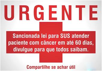Sancionada lei para SUS atender paciente com câncer em até 60 dias