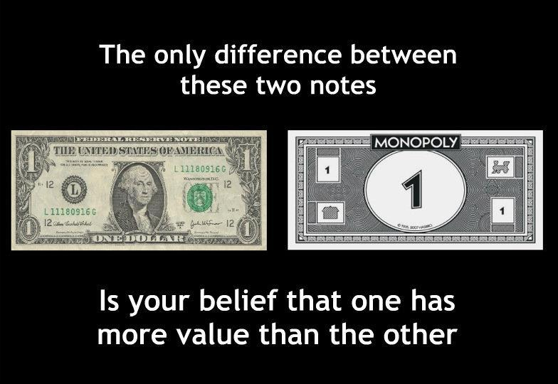 Federal reserve notes are back by nothing, except your faith in it!