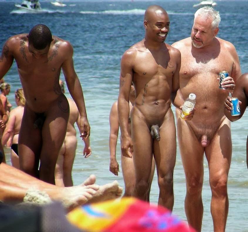 black penis at nudist beach