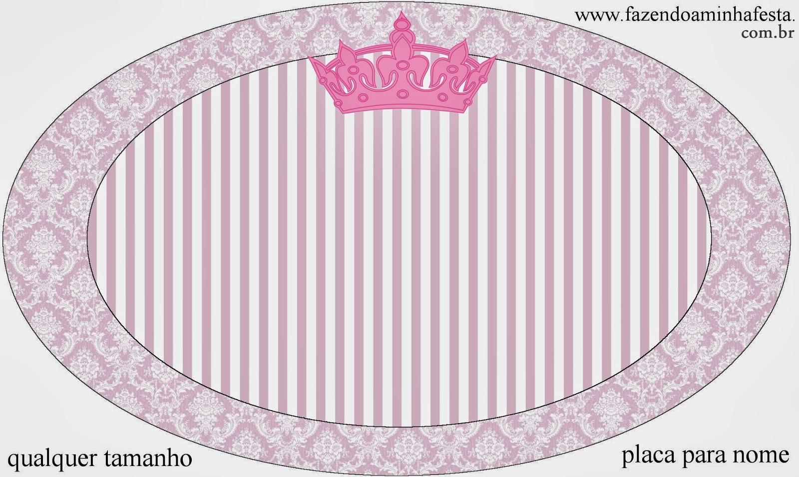 Placa para nombre o etiqueta oval.