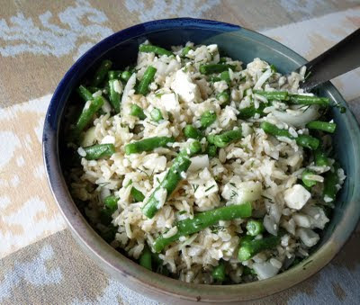 Bean and Rice Salad with Dill and Feta