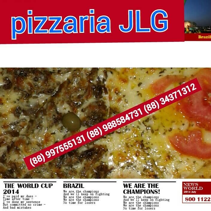 Pizzaria JLG Tauá. Disque e Peça.(88)997555131 (88) 988584731v(88) 3437 1312
