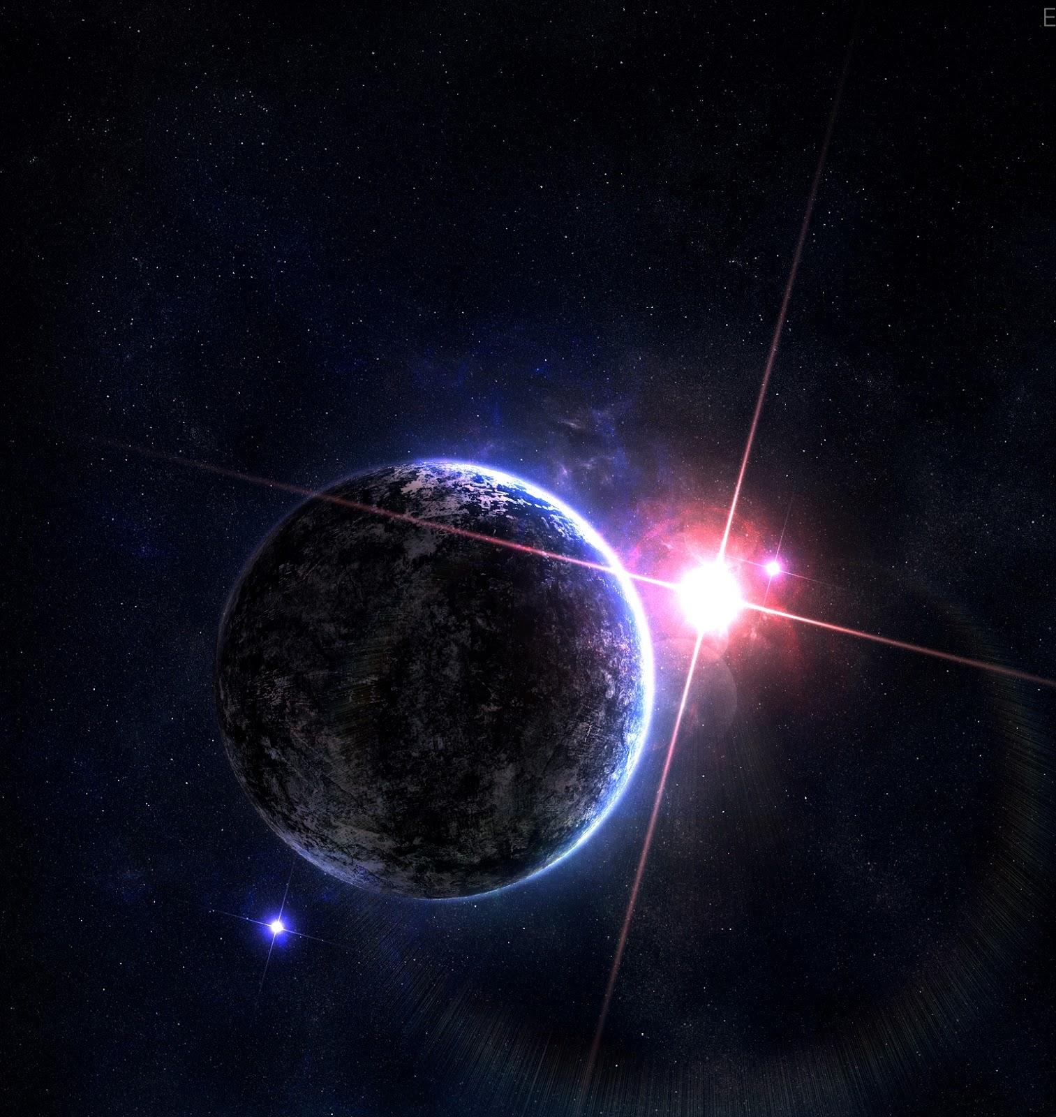 Lua chegando ao planeta