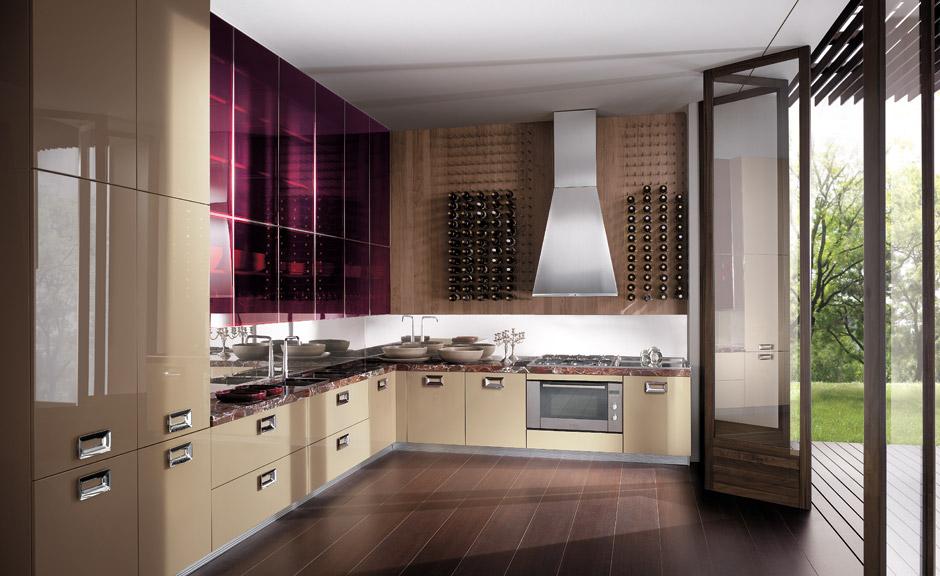 Cocinas angulares pr cticas y eficientes cocinas con - Distribucion cocina cuadrada ...