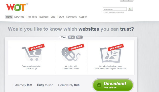 see website rating from web of trust