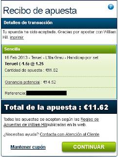 Apuestas Deportivas Rosberg Voleibol- Superliga España Teruel william Hill