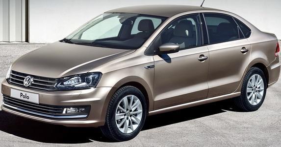 新型「Polo Sedan」のフロント画像その2