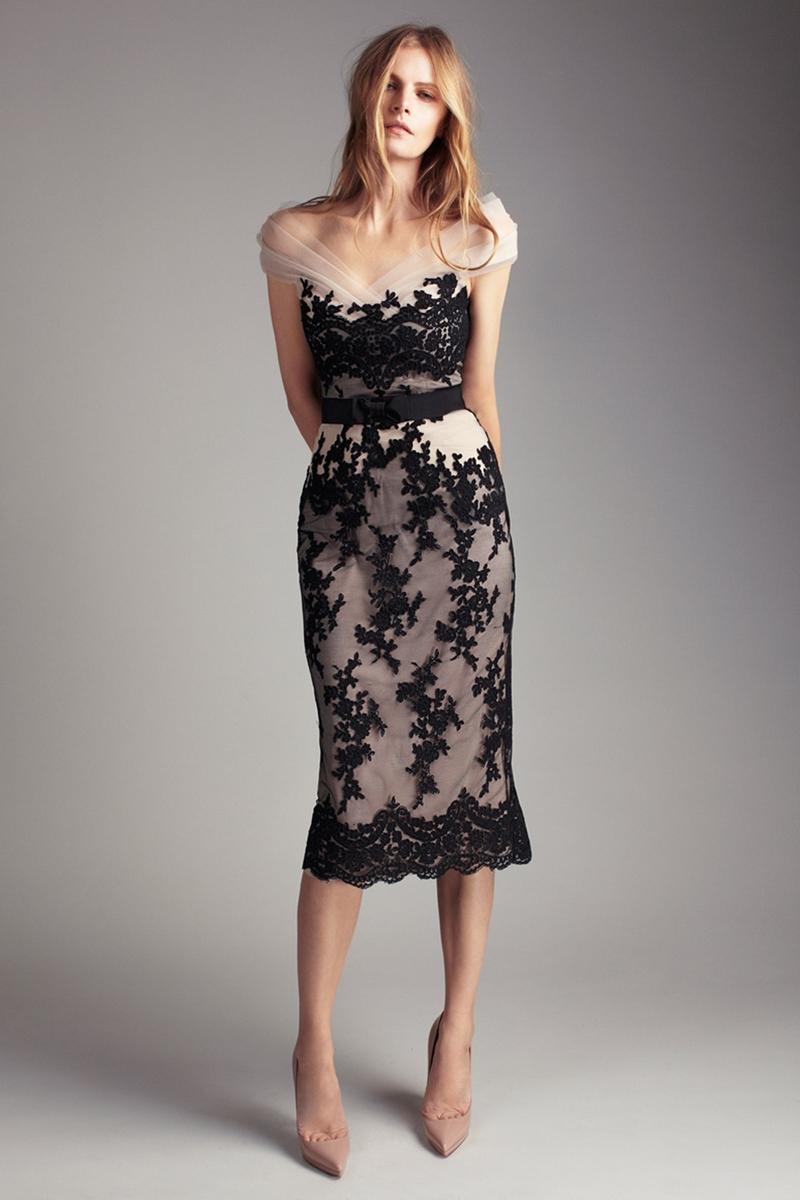 siyah elbise dantelli model - Payetli ve Dantelli Elbise Modelleri