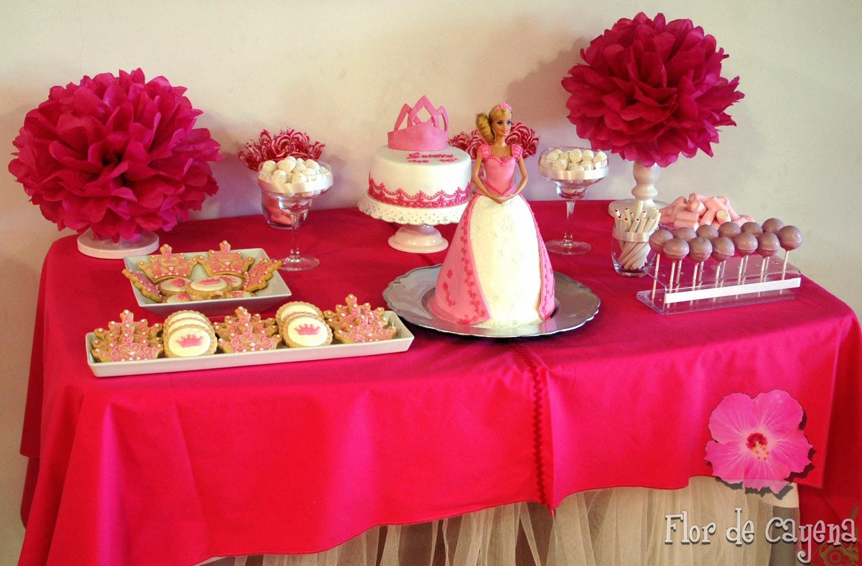 Flor de cayena mesa dulce de comunion de princesa - Preparar mesa dulce para comunion ...