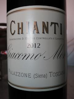 Giacomo Mori Chianti 2012 - DOCG Tuscany, Italy (90 pts)