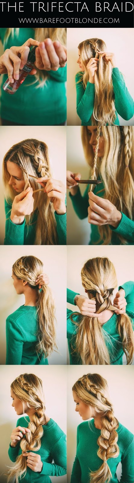 The Trifecta Braid Hairstyle Tutorial For Long Hair Toronto