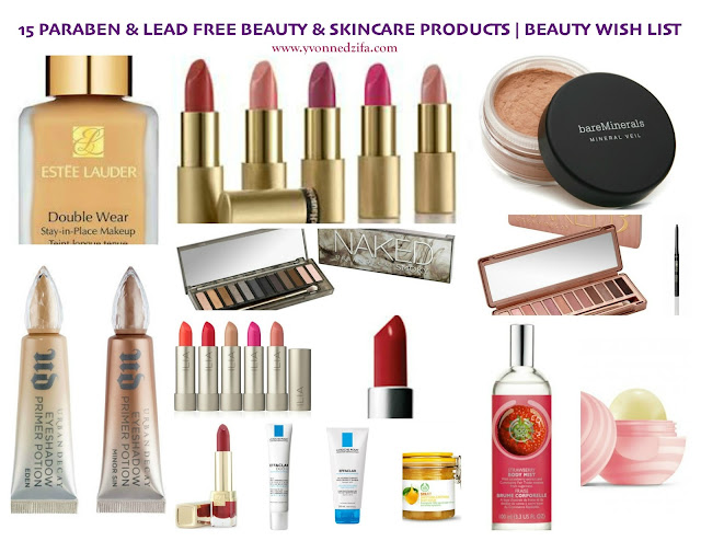 15 Paraben & Lead Free Beauty And Skincare Products wish list
