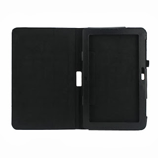 Litchi Leather Case Cover Stand for Samsung ATIV Smart PC XE500T 500T - Black