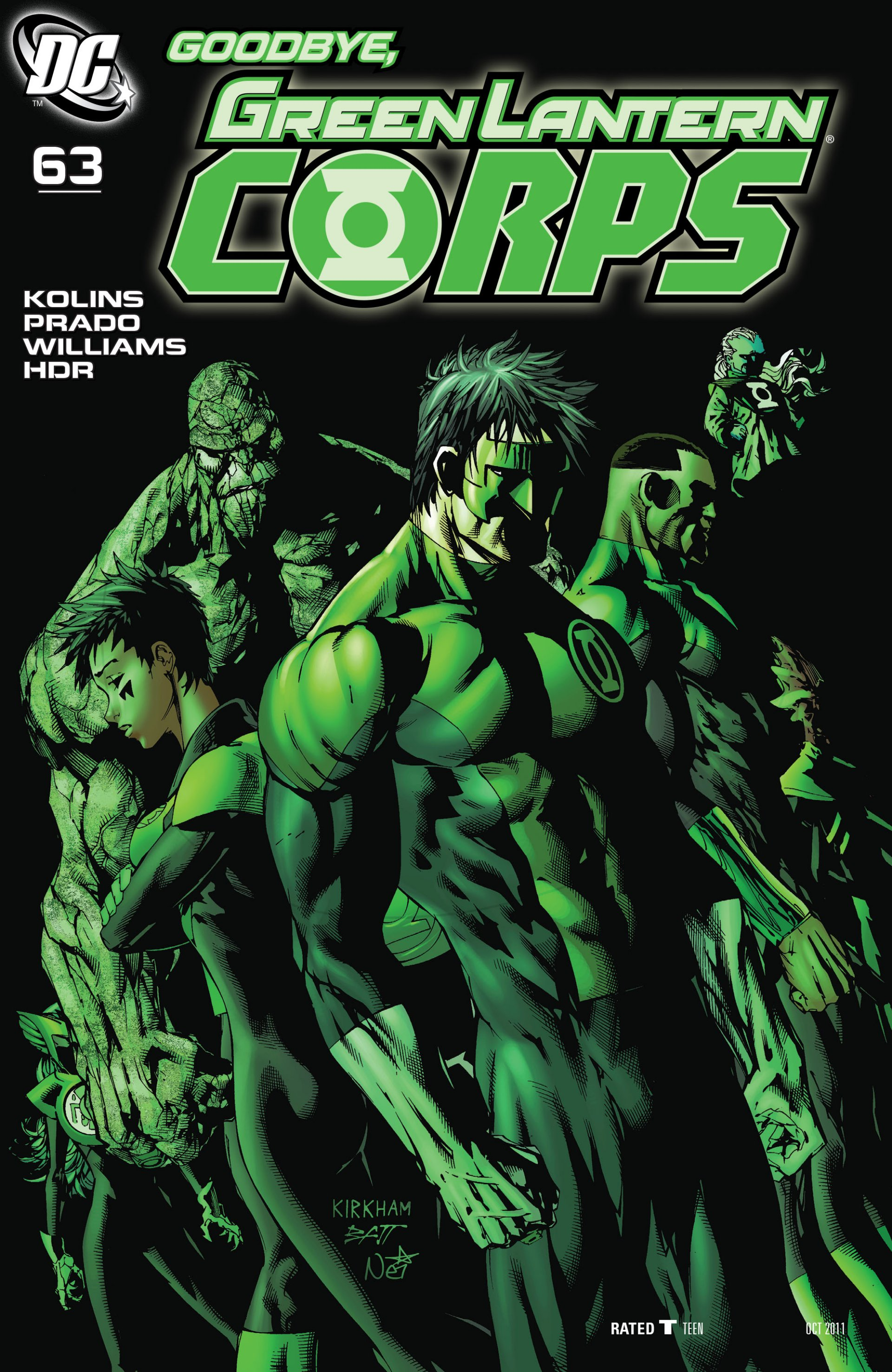 Read online Green Lantern Corps (2006) comic -  Issue #63 - 1