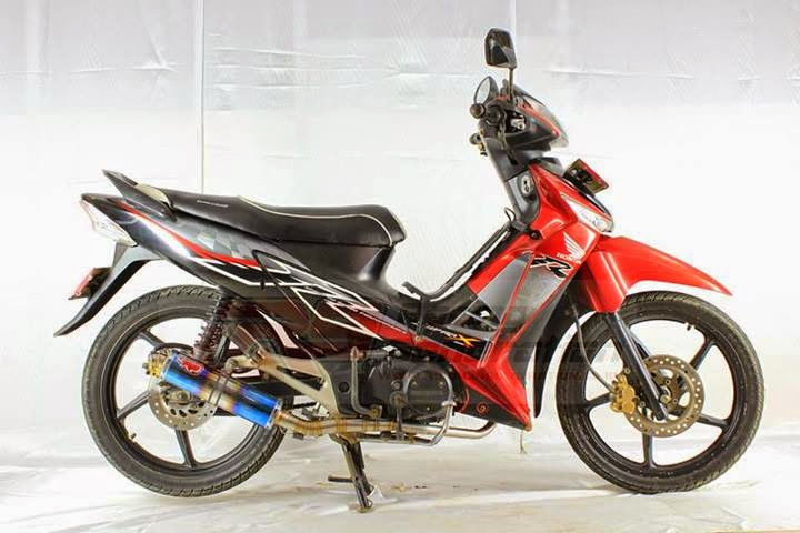 modifikasi supra x 125 knalpot racing
